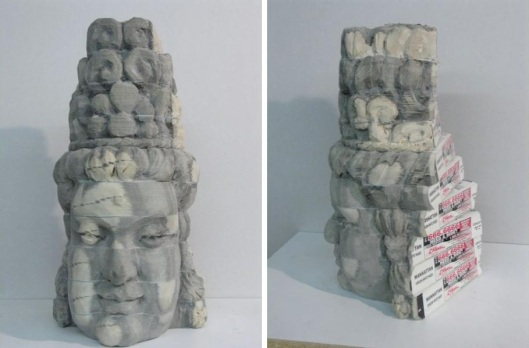 Long-Bin Chen Sculpture made from Carved Books 01 Bloggeretterized Buda