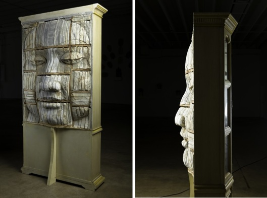 Long-Bin Chen Sculpture made from Carved Books 03 Bloggeretterized Bookface Mercy 2011