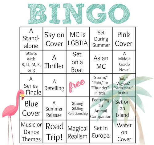 Summer Bookish Bingo 2014