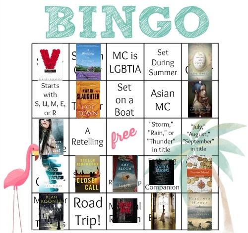 Bloggeretterized Summer Bookish Bingo Card 2014