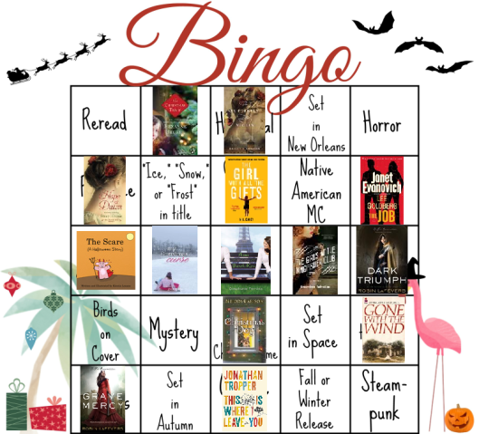 Bloggeretterized Bookish Bingo Holiday Edition 2014 Card