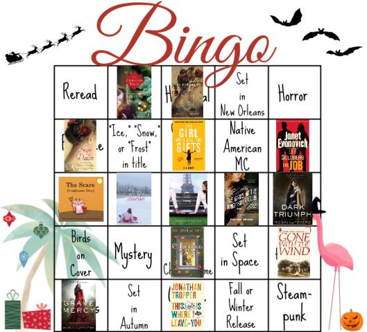 Bloggeretterized Bookish Bingo Holiday Edition 2014 Card