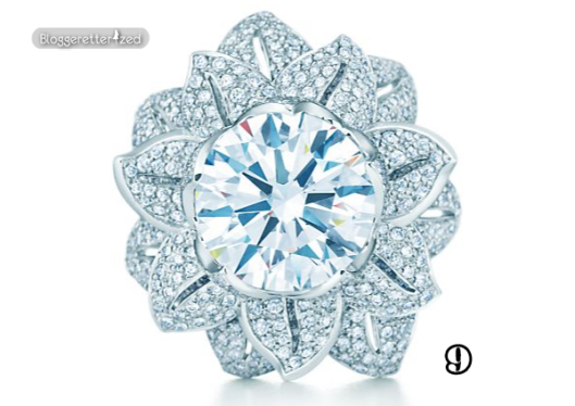 Marquise Cut Blue Diamond Engagement Rings