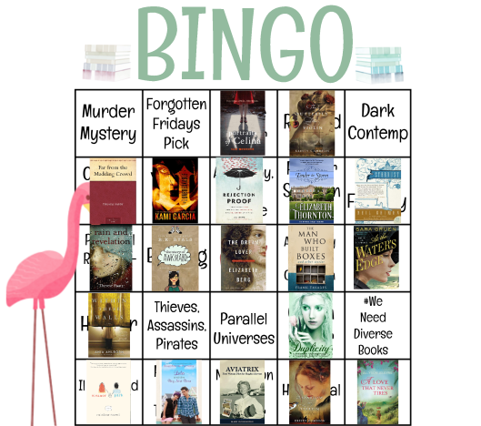 Bloggeretterized 2015 Ready for Spring Bookish Bingo Card