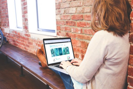 Bloggeretterized girl blogging photograph